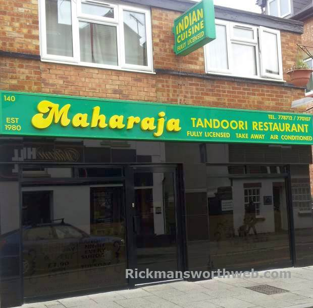 Maharaja Indian Restaurant Rickmansworth June 2013