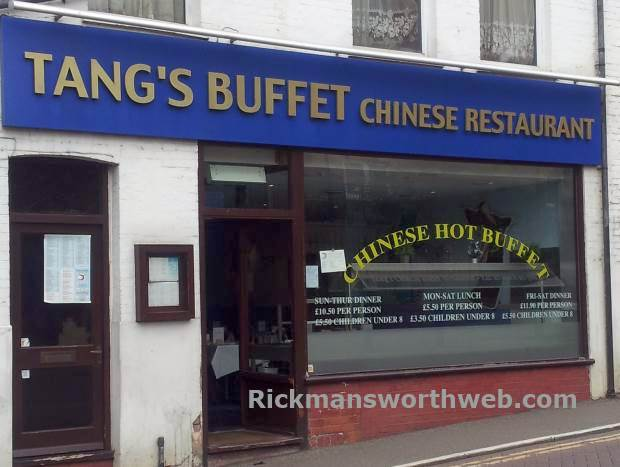 Tangs chinese restaurant Rickmansworth June 2013
