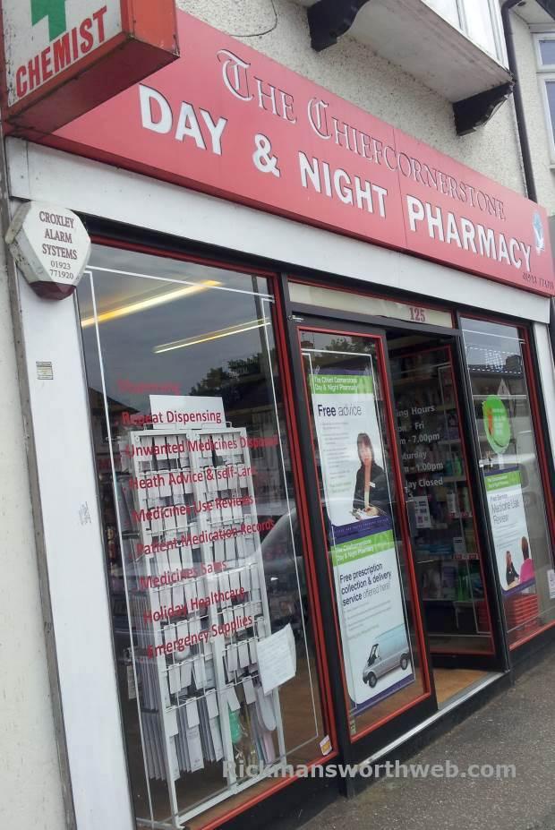 The Chiefcornerstone Pharmacy Rickmansworth June 2013