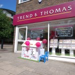 A picture of the Trend & Thomas Wendy House outside the office