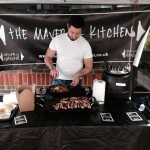 One of the various caterers at The Little Fox Market